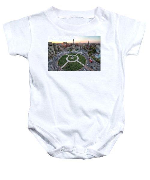 Thomas Circle Baby Onesie