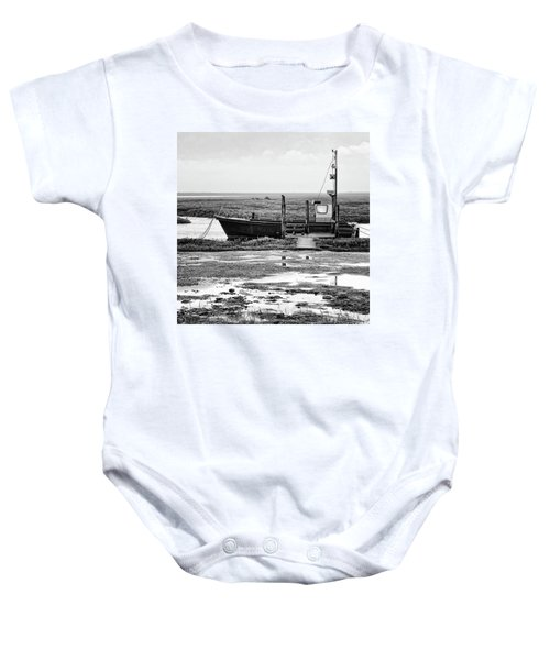Thornham Harbour, North Norfolk Baby Onesie