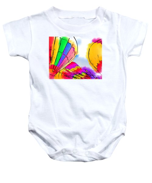 Three Balloons Baby Onesie