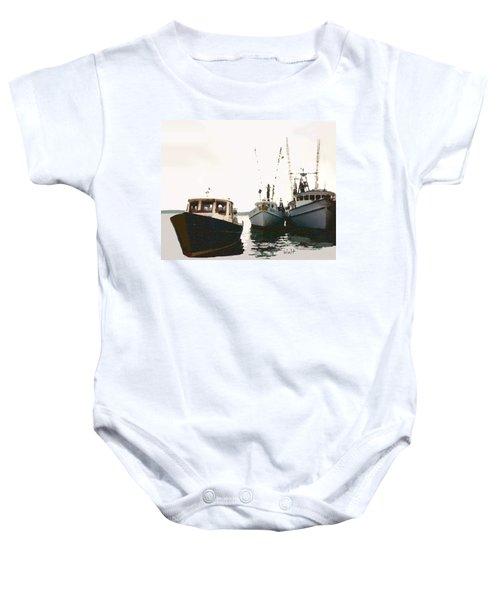 Three Boats Baby Onesie