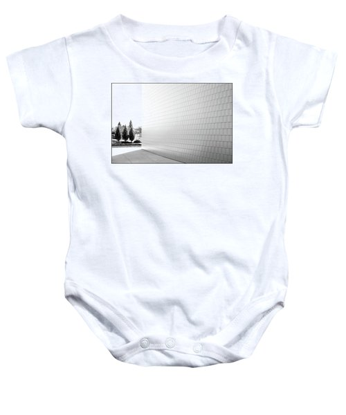 Three Trees And A Wall Baby Onesie