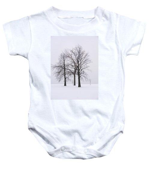 Three Trees Baby Onesie