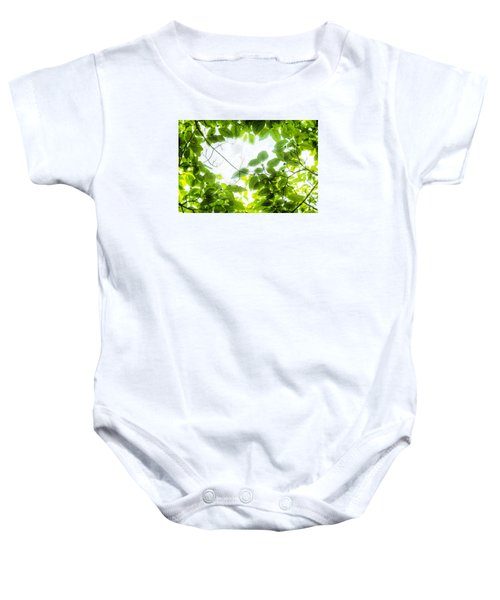 Through The Leaves Baby Onesie