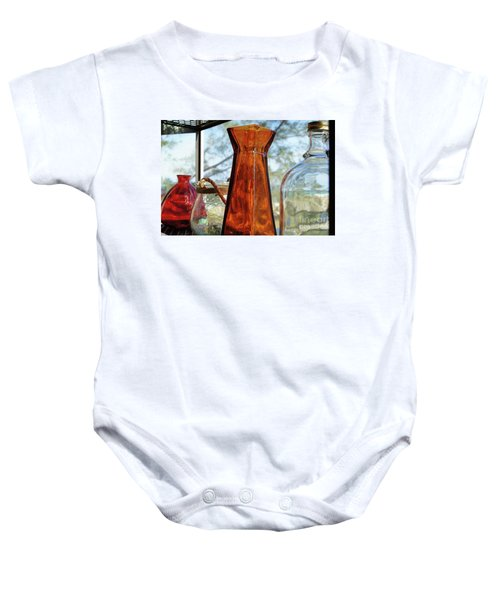 Thru The Looking Glass 1 Baby Onesie by Megan Cohen