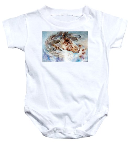 Thunder Appaloosa Indian War Horse Baby Onesie