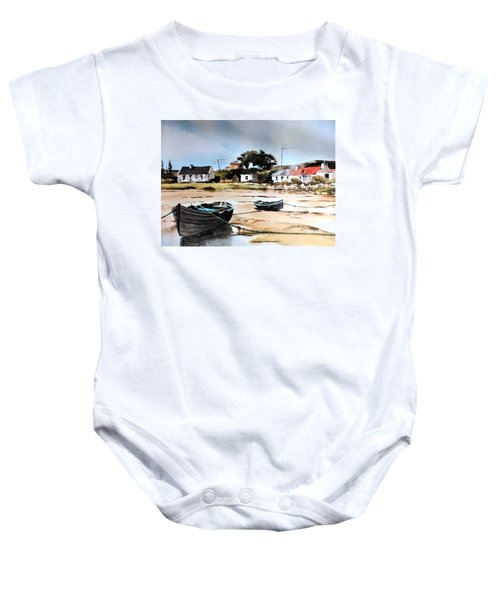 Tide Out In Erlak Roundstone Galway Baby Onesie