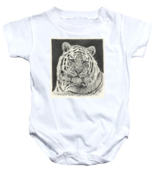 Tiger Drawing Baby Onesie
