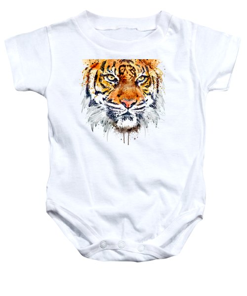 Tiger Face Close-up Baby Onesie