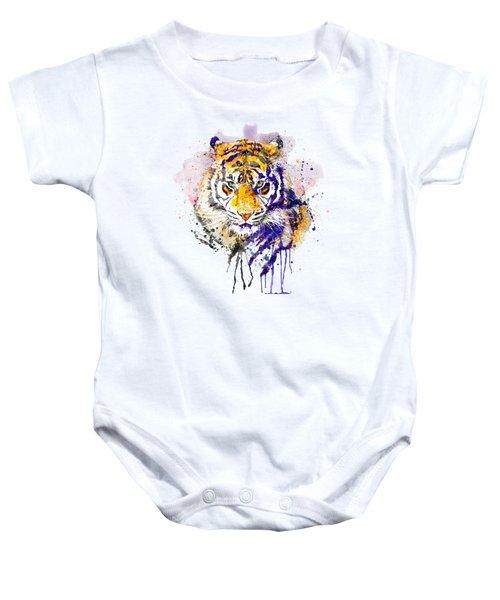 Tiger Head Portrait Baby Onesie