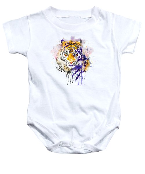 Tiger Head Portrait Baby Onesie