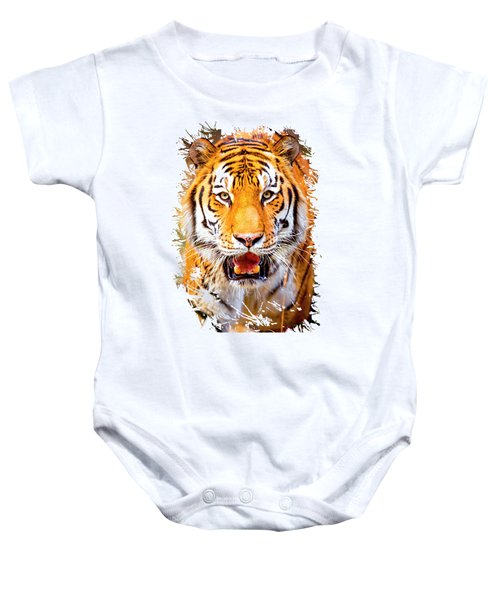 Tiger On The Hunt Baby Onesie
