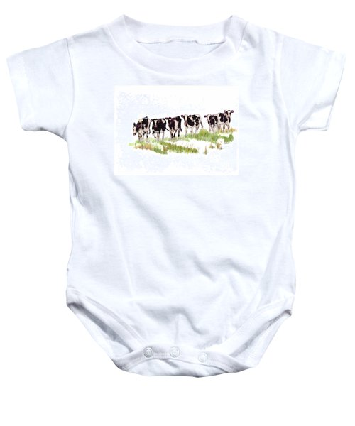 Till The Cows... Baby Onesie