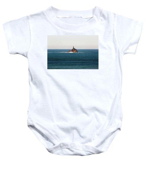 Tillamook Rock Lighthouse On A Calm Day Baby Onesie