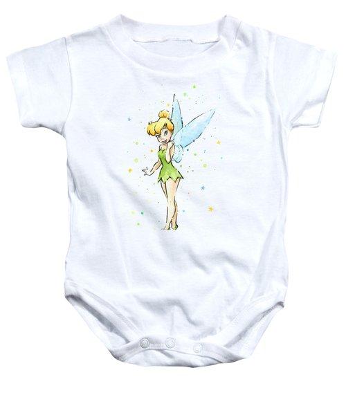 Tinker Bell Baby Onesie by Olga Shvartsur