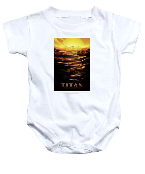 Titan - Ride The Tides Through The Throat Of Kraken - Vintage Na Baby Onesie