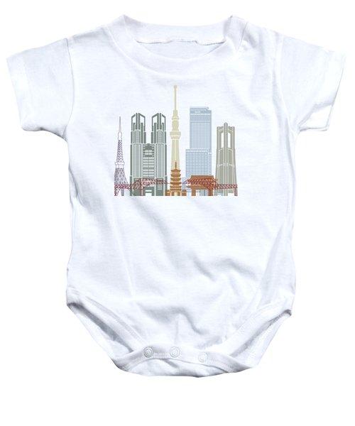Tokyo V2 Skyline Poster Baby Onesie