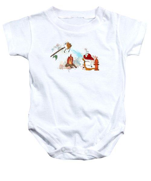 Too Toasted Illustrated Baby Onesie