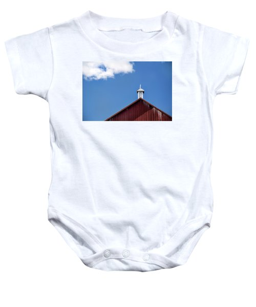 Top Of A Barn Baby Onesie