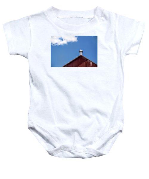 Top Of A Barn Baby Onesie