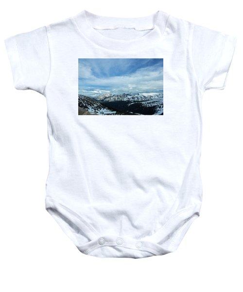 Top Of The Rockies Baby Onesie