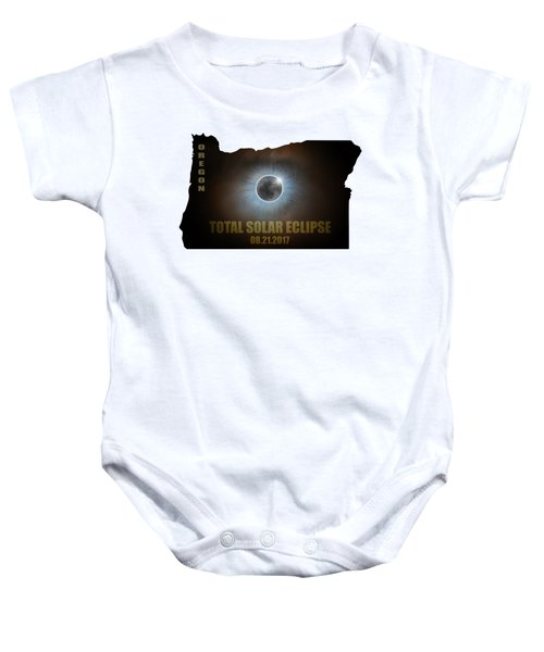 Total Solar Eclipse In Oregon Map Outline Baby Onesie
