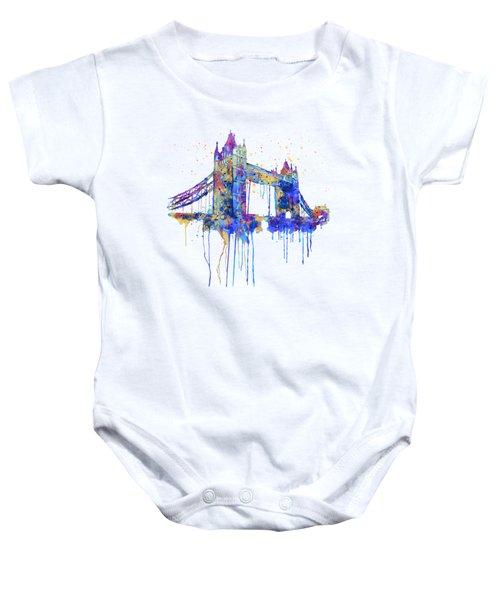 Tower Bridge Watercolor Baby Onesie