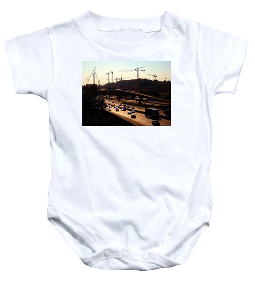 Traffic And Cranes Baby Onesie