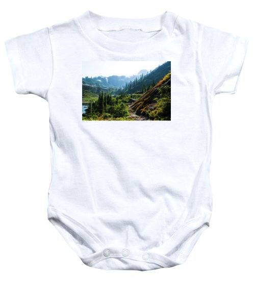 Trail In Mountains Baby Onesie