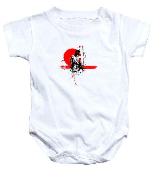 Trash Polka - Female Samurai Baby Onesie