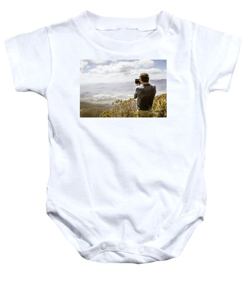 Travel And Technology Man Baby Onesie