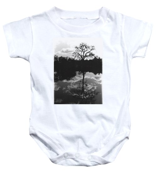 Tree Reflection Sebastopol Ca, Baby Onesie