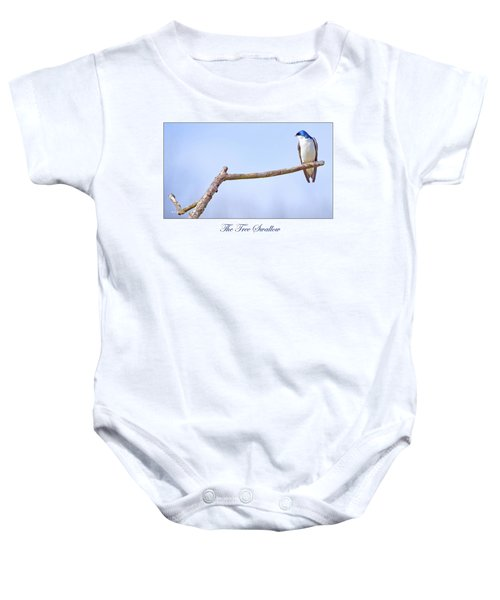 Tree Swallow On Branch Baby Onesie