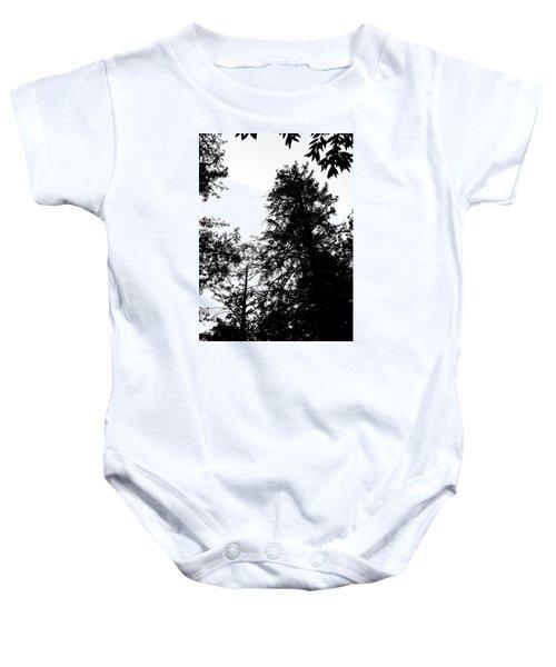 Tree Tops In Monotone Baby Onesie