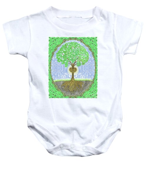 Tree With Heart And Sun Baby Onesie