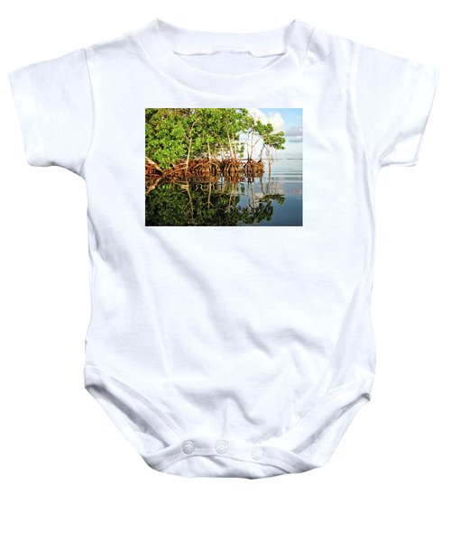 Trees In The Sea Baby Onesie