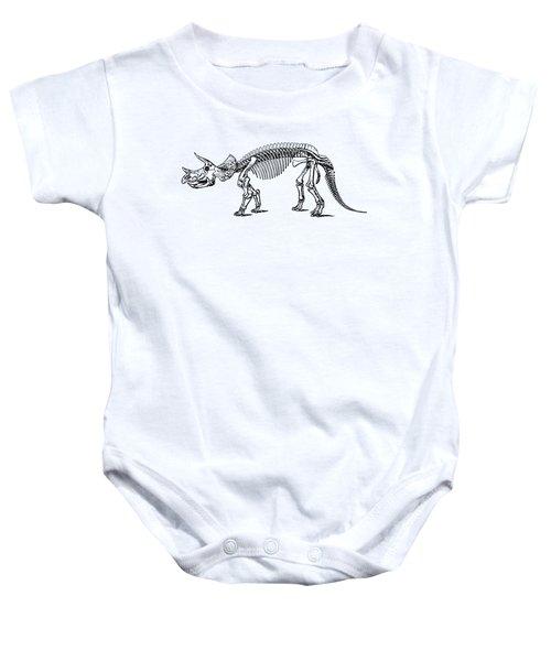 Triceratops Dinosaur Tee Baby Onesie by Edward Fielding