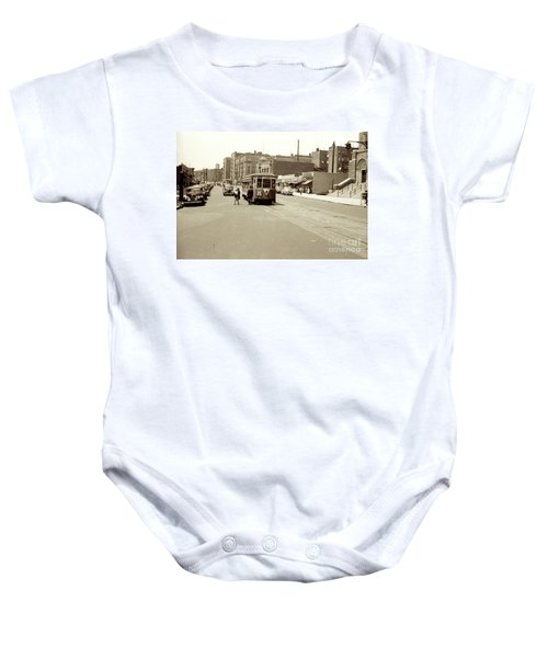 Trolley Time Baby Onesie
