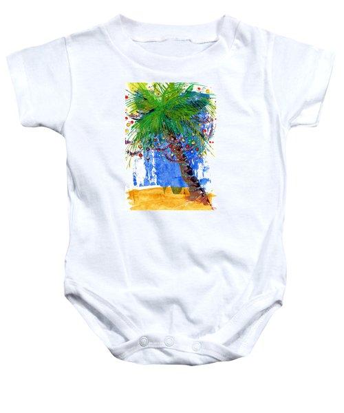 Tropical Christmas  Baby Onesie