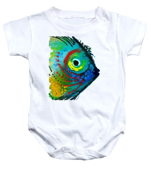 Tropical Fish - Art By Sharon Cummings Baby Onesie by Sharon Cummings