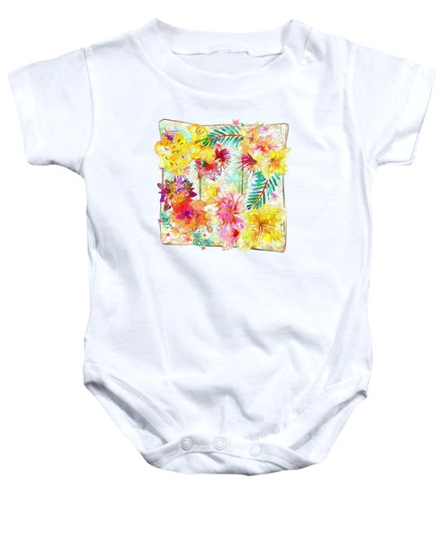 Tropicana Abstract By Kaye Menner Baby Onesie by Kaye Menner