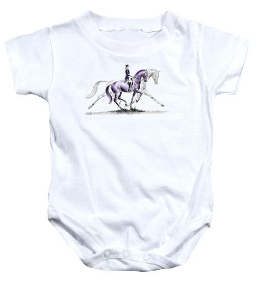 Trot On - Dressage Horse Print Color Tinted Baby Onesie