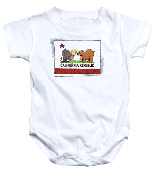 Trump And California Face Off Baby Onesie