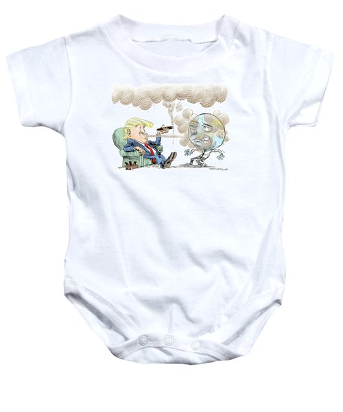 Trump And The World On Climate Baby Onesie