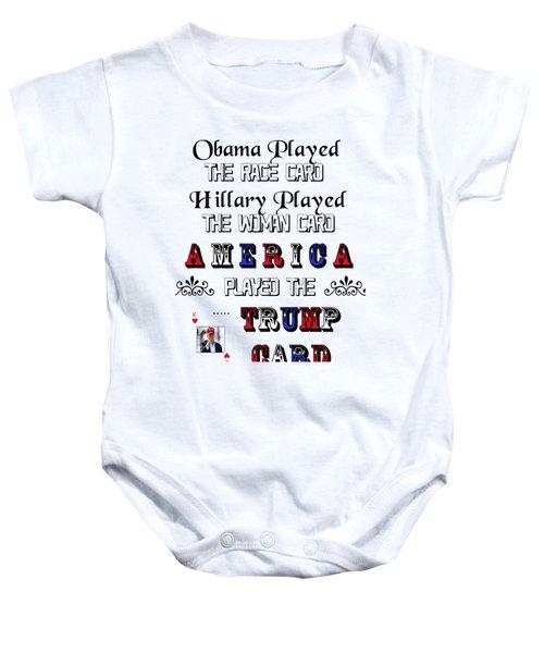 Trump Card Baby Onesie