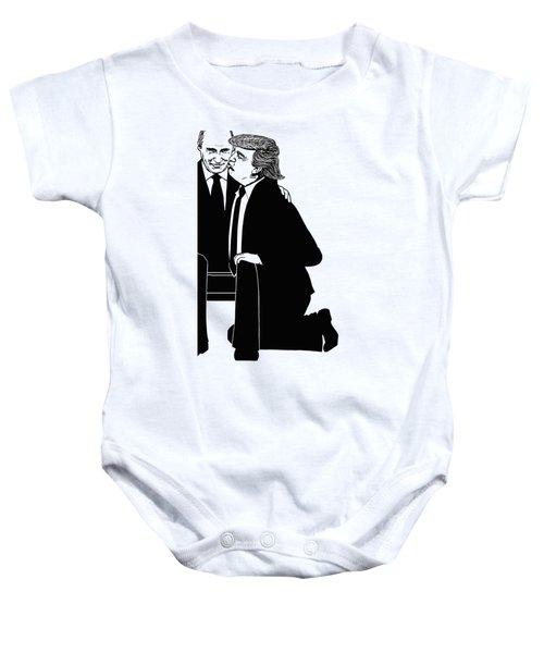 Trump On Knees Baby Onesie