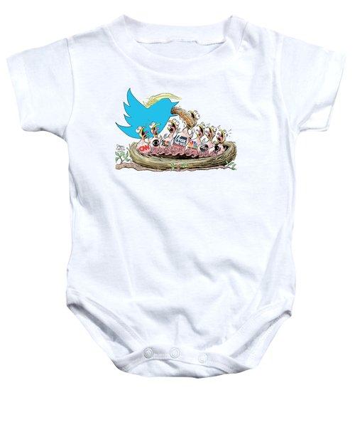Trump Twitter And Tv News Baby Onesie