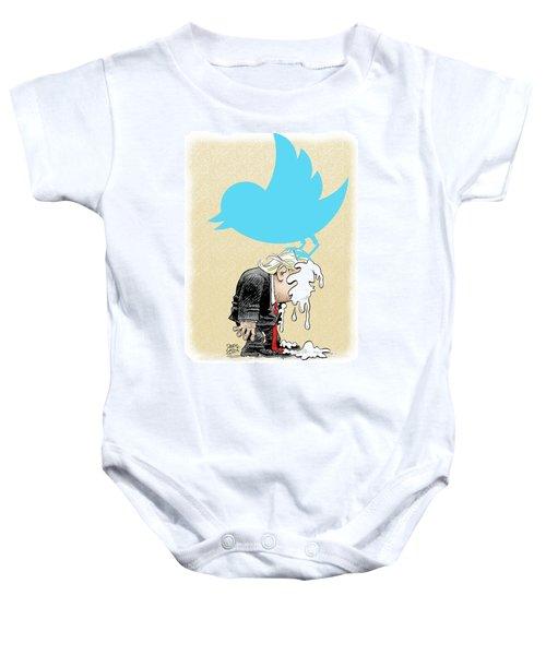 Trump Twitter Poop Baby Onesie