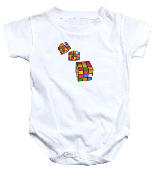 Tumbling Cubes Baby Onesie