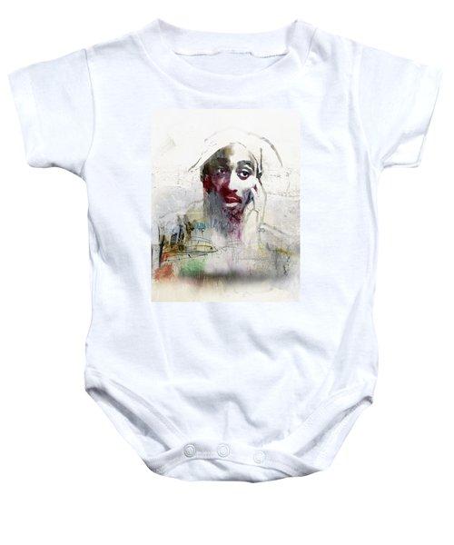 Tupac Graffitti 2656 Baby Onesie by Jani Heinonen