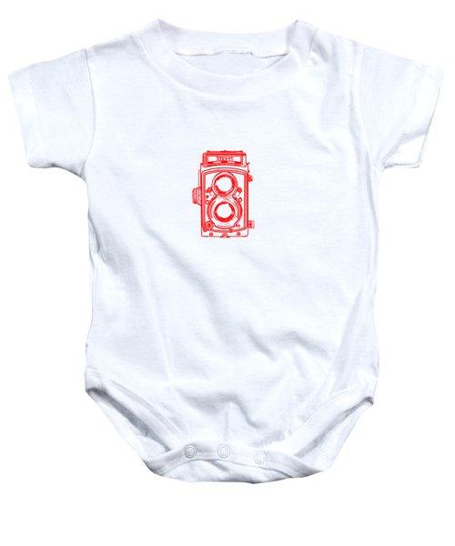 Twin Lens Camera Baby Onesie